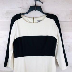 Jessica Howard Winter white and Black Dress